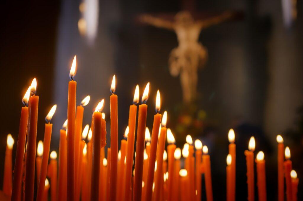 candles, faith, reflection